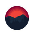 mountains logo hiking travel and adventure badge vector image