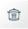 multicooker icon line symbol premium quality vector image vector image