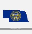 nebraska usa map flag vector image vector image