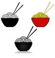 Noodles vector image vector image