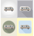 old retro transport flat icons 11 vector image vector image