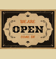 open sign vector image