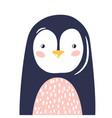 penguin cute animal baface vector image vector image