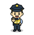 policeman cute cartoon character vector image vector image