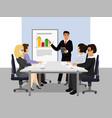 presentation teamwork vector image vector image