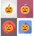 pumpkins for halloween flat icons 13 vector image vector image
