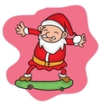 Santa playing skateboard character collection vector image vector image