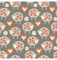 Seamless pattern background with sheeps vector image