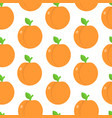 seamless pattern with peaches in flat style vector image vector image