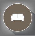 sofa sign white icon on vector image