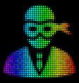 spectrum pixel masked thief icon vector image vector image