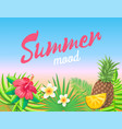 summer mood banner vacation placard sample vector image vector image
