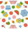 summer theme seamless pattern flat design vector image vector image