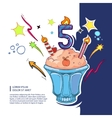 sweet birthday cake vector image vector image