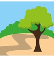tree landscape field isolated icon vector image vector image