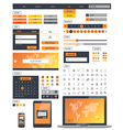 Ui kit responsive web design Icons template mockup vector image vector image