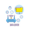 wifi router technology data center connection vector image vector image