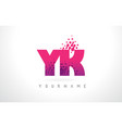 yk y k letter logo with pink purple color and vector image vector image