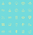 Zen concept line icons yellow color vector image