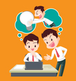 Businessman is stealing idea vector image
