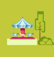 amusement park attractions merry-go-round vector image