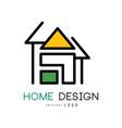 abstract house for logo design original vector image