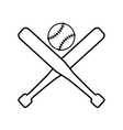 ball bat baseball sport design vector image vector image