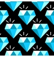 blue diamonds seamless pattern vector image