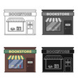 bookstore icon in cartoon style isolated on white vector image vector image