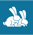 bunny sex rabbit intercourse hares isolated vector image vector image