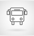 bus public transportation flat icon vector image