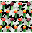 cactus on camo background vector image