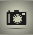 camera icon in flat style isolated vector image vector image