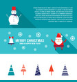 christmas and new year banner set modern flat vector image vector image