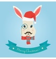 Christmas cute forest hare bunny rabbit head logo vector image vector image