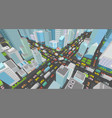 city street intersection traffic jams road 3d vector image vector image