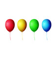 collection of color balloons vector image vector image