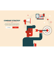 Company strategy concept vector image vector image