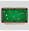 complete set of color billiards balls on the table vector image