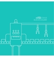 Concept Production line vector image