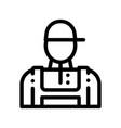 conditioner repairman worker thin line icon vector image