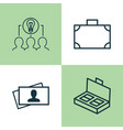 corporate icons set collection of calling card vector image