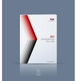 Cover design template for annual report Brochure vector image vector image