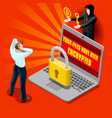 cyber computer attack email malware isometric vector image vector image