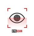eye scan iconeye scanner biometric recognition vector image