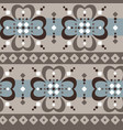 fair isle jumbo floral seamless abstract pattern vector image