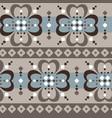 fair isle jumbo floral seamless abstract pattern vector image