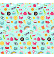 fashion seamless pattern patches 80s comic vector image vector image