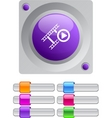 film color round button vector image vector image