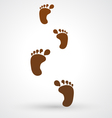 foot footsteps icon vector image vector image